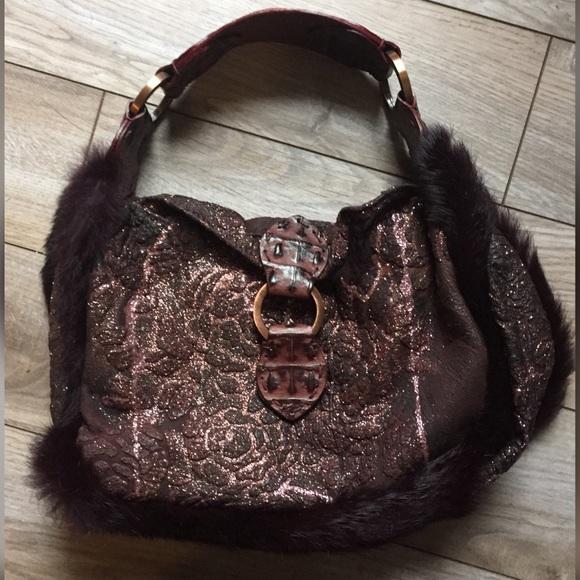 cdb4ed514da5 Desmo Handbags - Italian Leather and Rabbit Fur Dress Purse